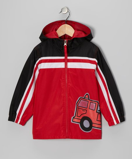 Red Fire Truck Jacket - Infant