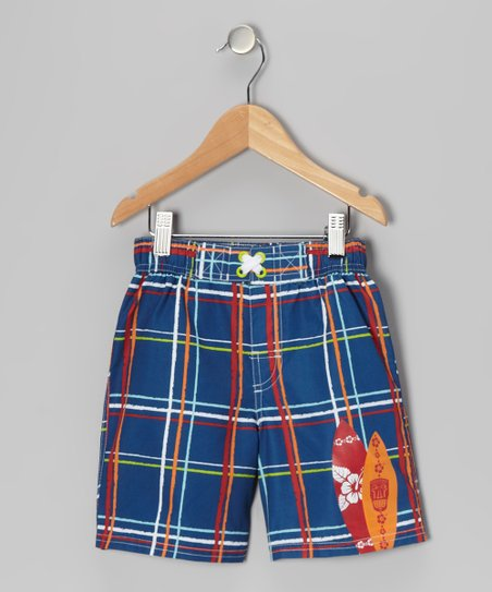 Navy Surfboard Swim Trunks - Infant