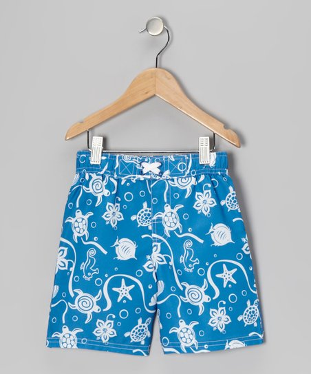 Royal Turtle Swim Trunks - Infant & Toddler