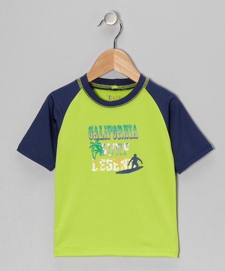 Lime 'California Surf Legend' Rashguard - Toddler