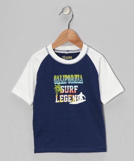 Navy 'California Surf Legend' Rashguard - Boys