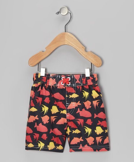 Black Fish Swim Trunks - Infant & Toddler