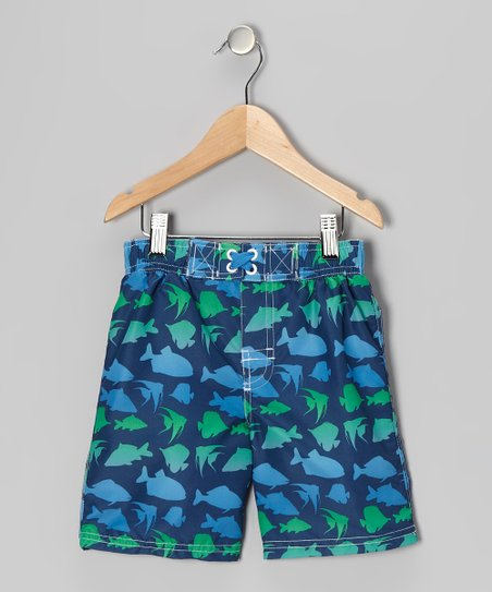 Navy Fish Swim Trunks - Infant &amp; Toddler