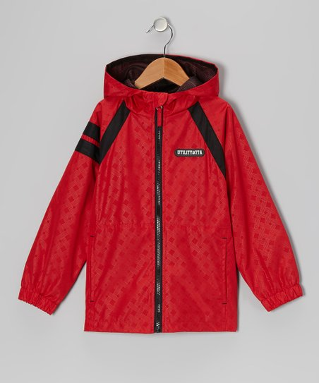 Red &#039;Utility #77A&#039; Jacket - Boys