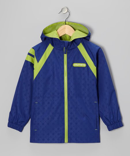 Royal Blue &#039;Utility #77A&#039; Jacket - Boys