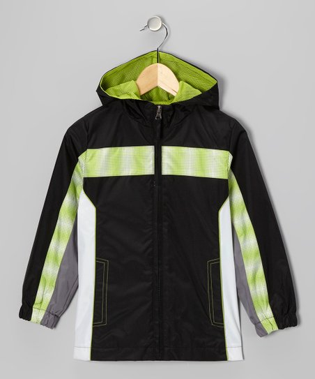 Black Stripe Jacket - Boys