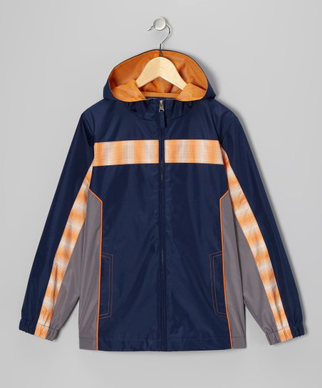 Navy Stripe Jacket - Boys