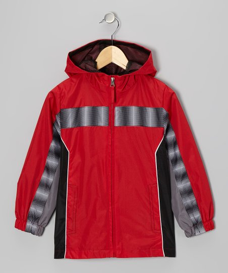 Red Stripe Jacket - Boys