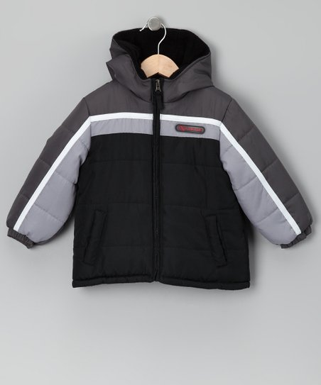 Black &amp; Gray Coat - Infant