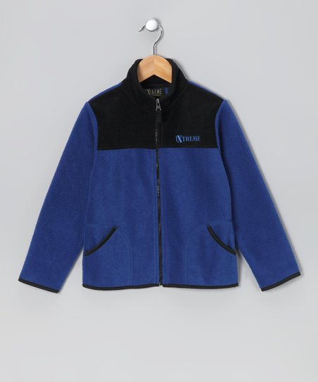 Royal Blue &amp; Navy Zip-Up Jacket - Infant &amp; Boys