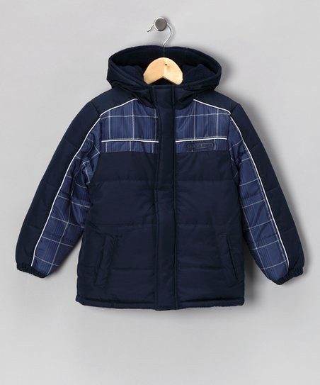 Blue Plaid Coat - Toddler & Boys