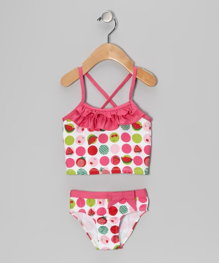 White Polka Dot Tankini - Infant