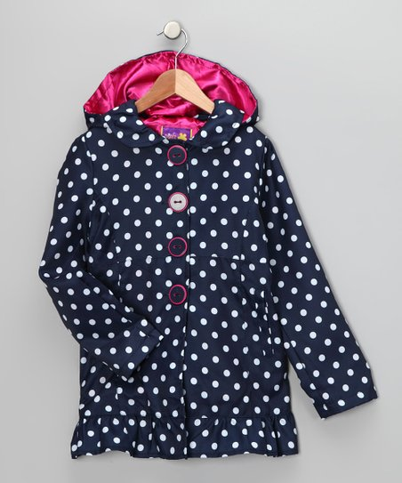 Pink Platinum & iXtreme Navy Polka Dot Jacket - Infant & Toddler