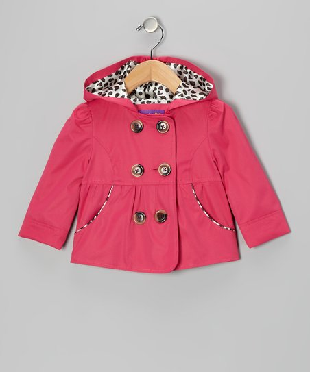 Fuchsia Peacoat - Toddler