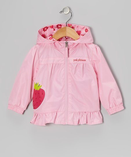 Pink Strawberry Jacket - Infant & Toddler