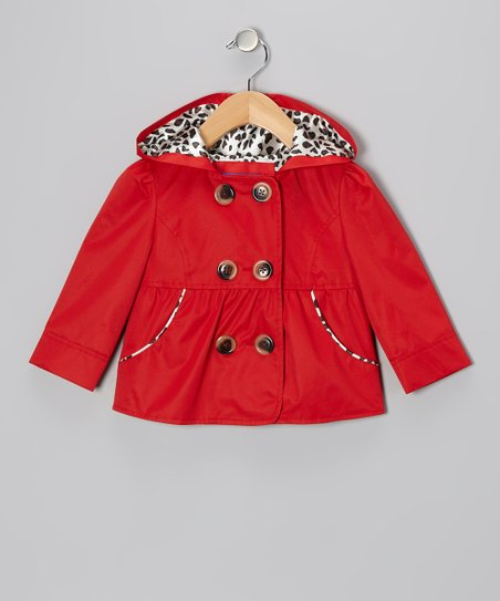 Red Peacoat - Toddler
