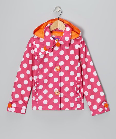 Fuchsia Polka Dot Jacket - Toddler & Girls