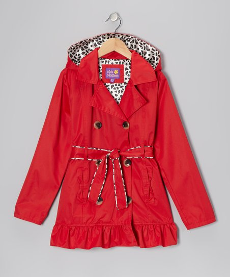 Red Trench Coat - Girls