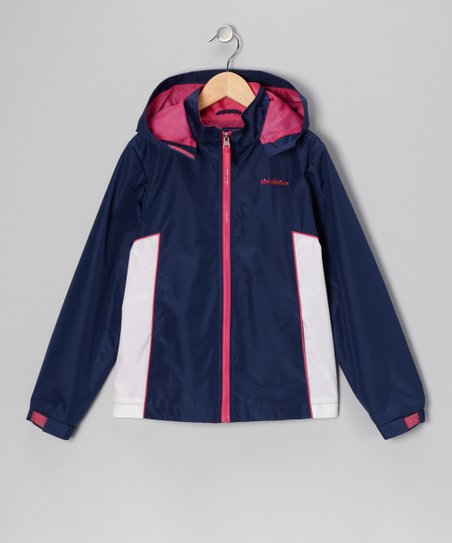 Navy 'Pink Platinum' Jacket - Girls