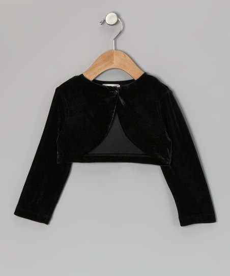 Black Velour Bolero - Infant