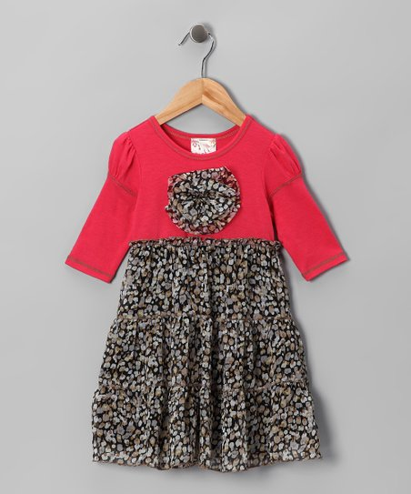 Coral Daisy Tiered Dress - Toddler & Girls