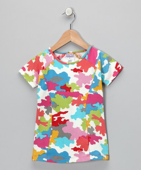 Blue Urban Puzzle Tee - Girls