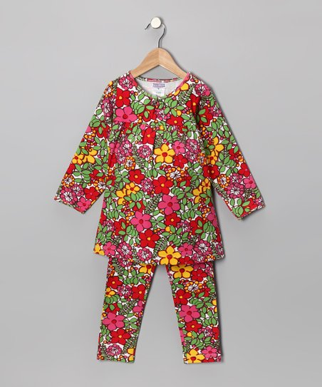 Fuchsia Floral Top & Leggings - Toddler & Girls