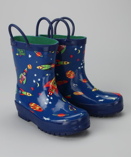 Blue Rocket Rain Boot
