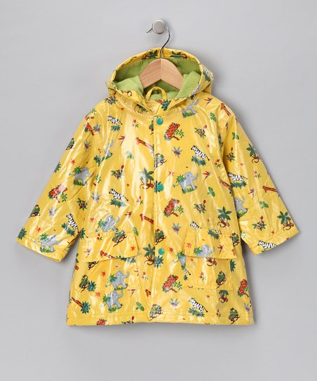 Yellow Safari Fleece-Lined Raincoat - Infant, Toddler & Boys