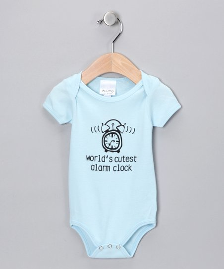 Blue 'World's Cutest Alarm Clock' Bodysuit - Infant