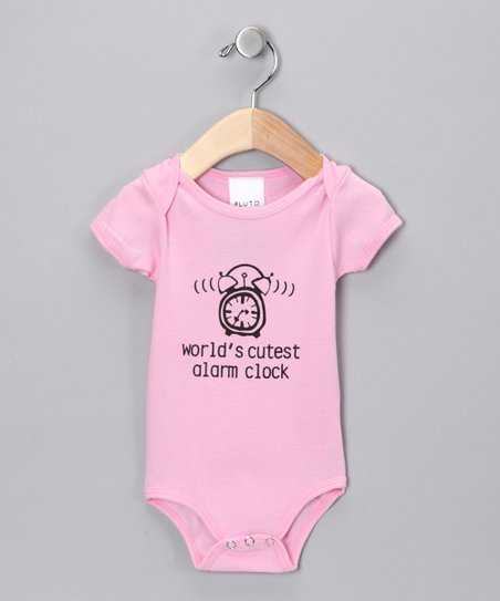 Pink 'World's Cutest Alarm Clock' Bodysuit - Infant