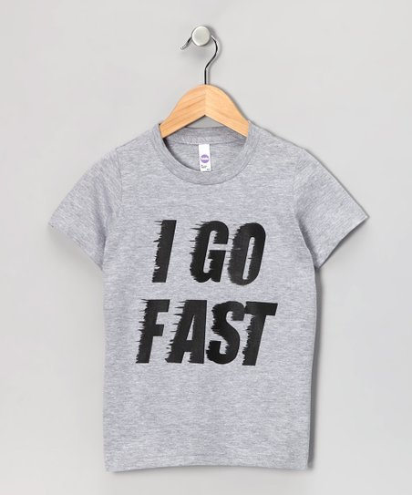 Gray 'I Go Fast' Tee - Toddler & Kids