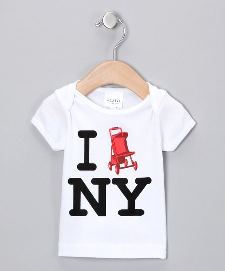 White I Stroll NY Tee - Infant