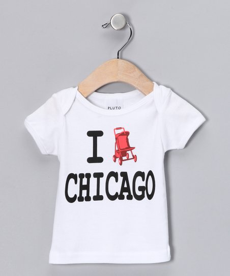 White &#039;I Stroll Chicago&#039; Tee - Infant &amp; Toddler
