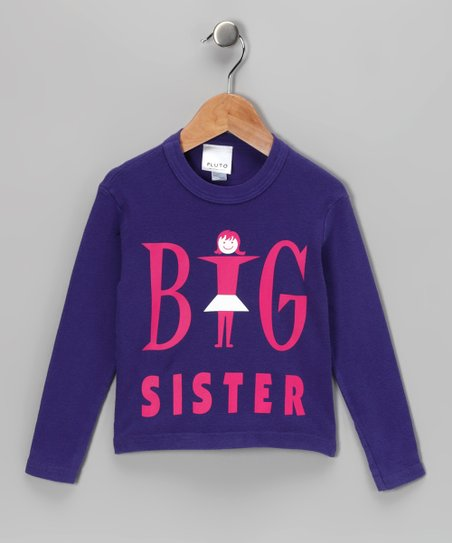 Purple 'Big Sister' Long-Sleeve Tee - Infant & Toddler