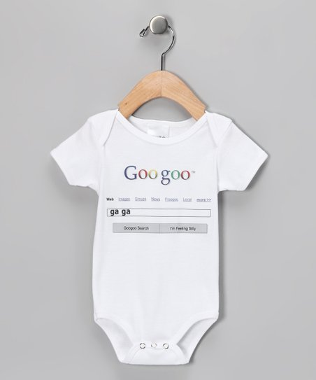 White &#039;Goo Goo&#039; Bodysuit - Infant