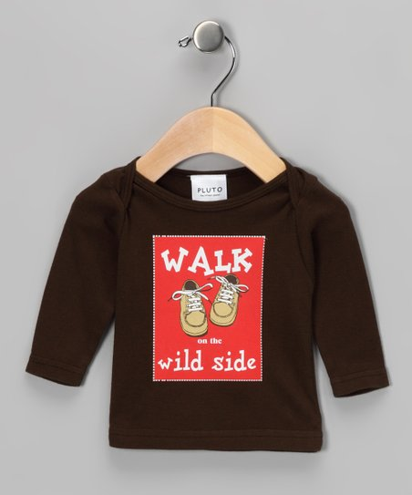 Brown 'Walk on the Wild Side' Long-Sleeve Tee - Infant
