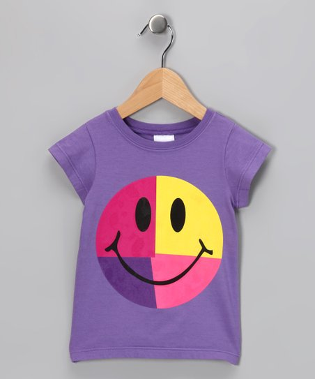 Lavender Smiley Tee - Infant, Toddler & Girls