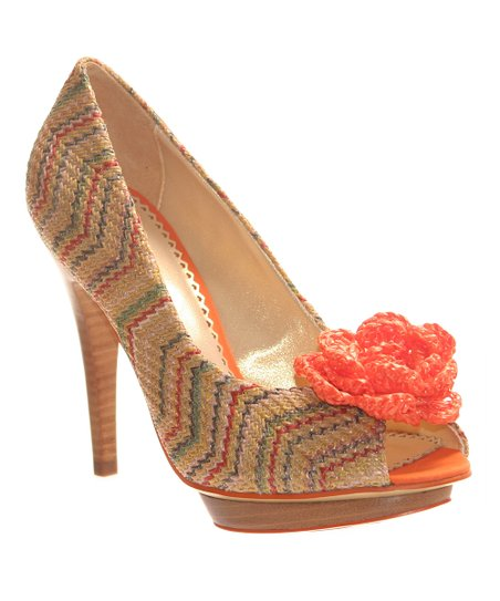 Currant All Mixed Up Peep-Toe Pump