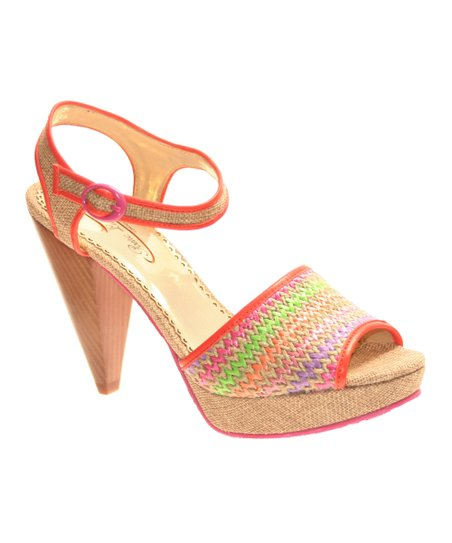 Natural Giggly Peep-Toe Sandal