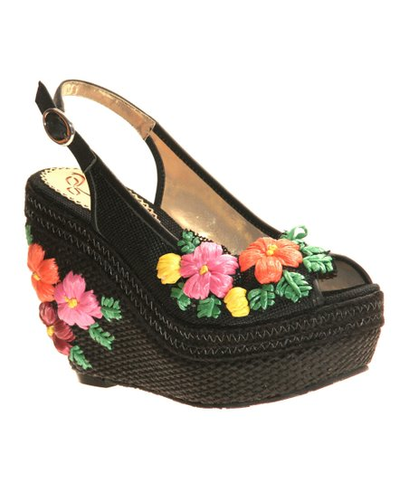 Black Petal Pusher Wedge
