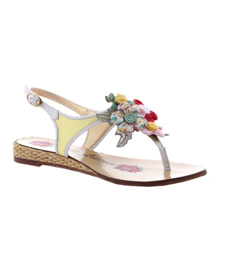Yellow Summer Hoopla Sandal