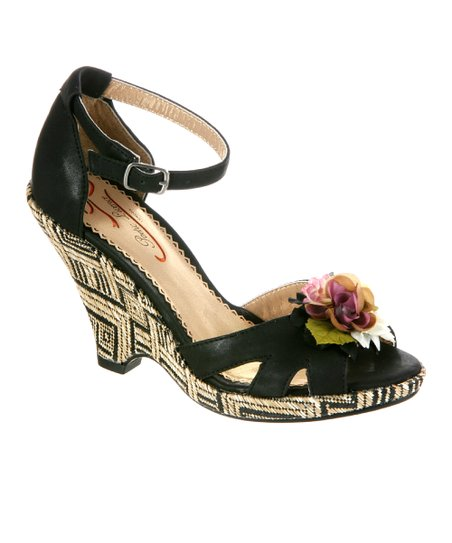 Black True Romance Sandal