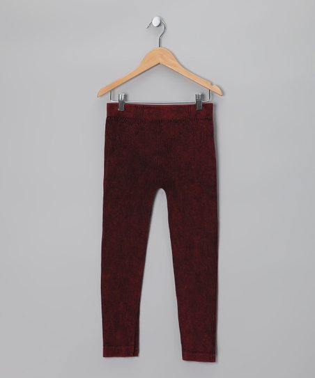 Razzberry Distressed Jeggings