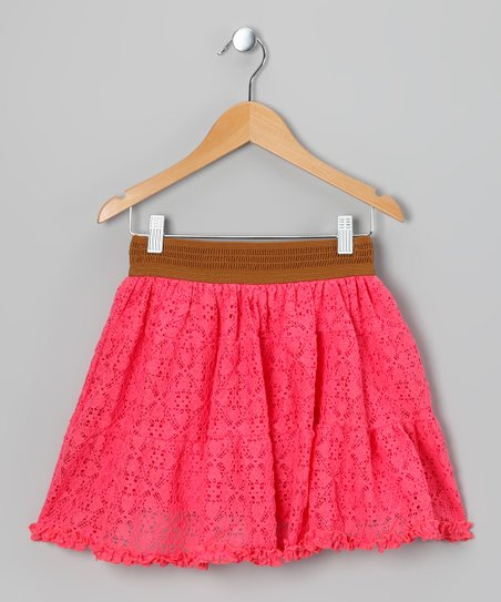 Coral Lace Skirt - Girls