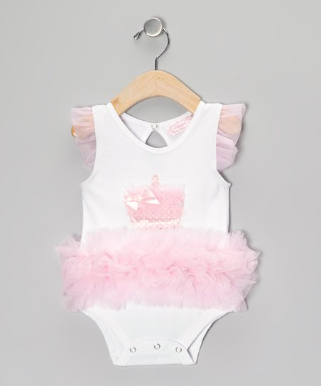 White & Pink Cupcake Bodysuit - Infant