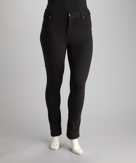 Black Jeggings - Plus