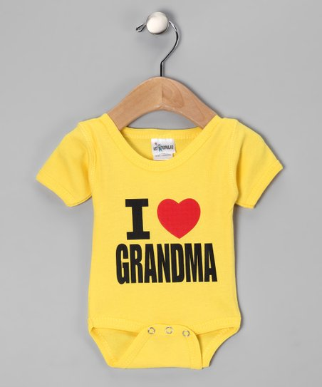 Yellow 'I Love Grandma' Bodysuit - Infant