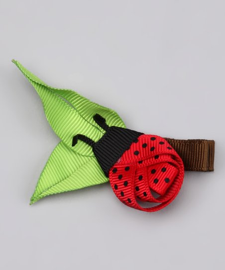 Red Ladybug Leaf Clip