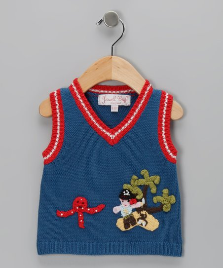 Blue & Red Pirate Vest - Infant